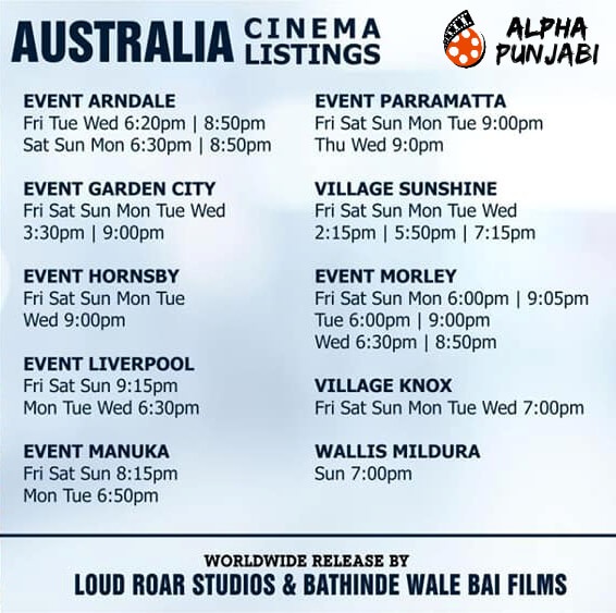 Australia Cinema Listings