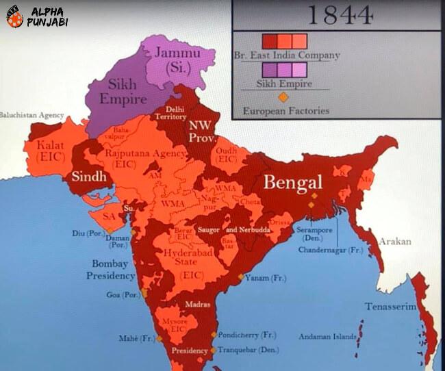 Sikh Empire Map