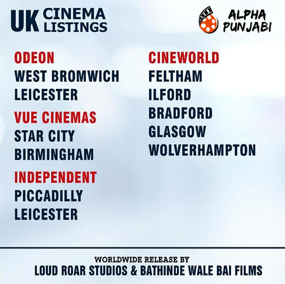 U.K Cinema Listings